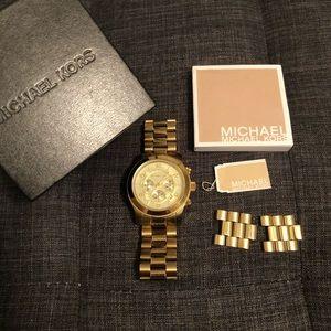Michael Kors MK8077 Gold Oversized Watch